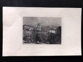 Finden works of Byron C1835 Antique Print. Tivoli, Italy
